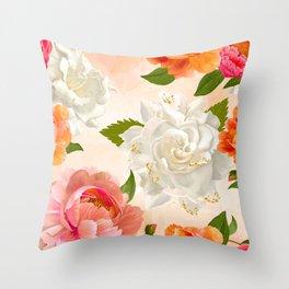 sPrinK flora Throw Pillow