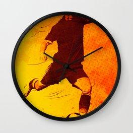 Heat of Football Wall Clock