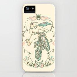 Motocross-Stitch Kitteh iPhone Case