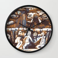 african Wall Clocks featuring african by Silvia Gentilini