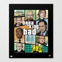gta Canvas Prints featuring Breaking Bad GTA HD  by Akyanyme