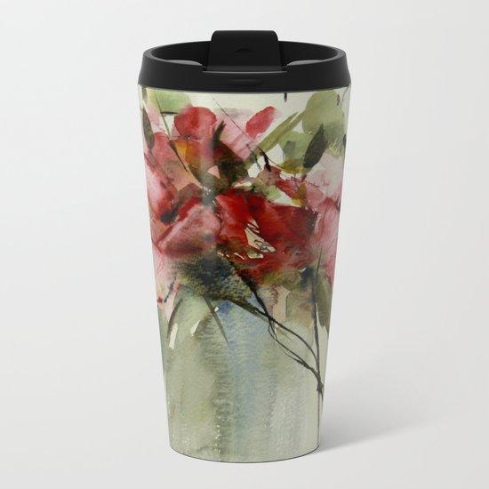 summer roses Metal Travel Mug