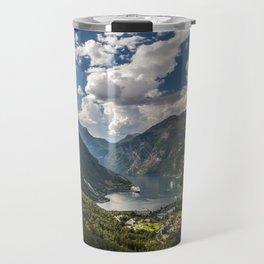 Geiranger Fjord Norway Mountains Travel Mug
