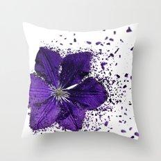 Purple flower Explosion Throw Pillow