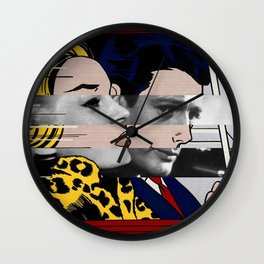"Roy Lichtenstein's ""In the car"" & Marcello Mastroianni with Anita Ekberg Wall Clock"