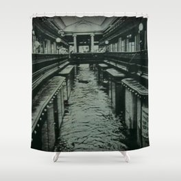 1938 Great Hurricane Flood of the Arcade and Providence, Rhode Island Shower Curtain