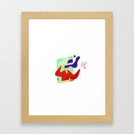 Invite peace and love Framed Art Print