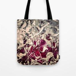 Dark Magenta Vintage Distressed Abstract Tote Bag