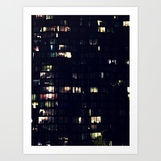 Night Time Lights Art Print