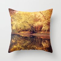 wisconsin Throw Pillows featuring Wisconsin River by KunstFabrik_StaticMovement Manu Jobst