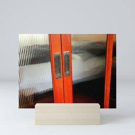 Ribbed Glass Doors - A Half Made Bed Mini Art Print