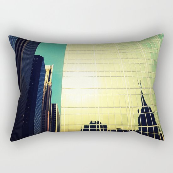 empire state reflection NY Rectangular Pillow