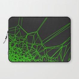 Green voronoi lattice on black background Laptop Sleeve