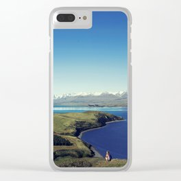 She felt tiny in Lake Tekapo Clear iPhone Case