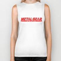 metal gear Biker Tanks featuring Metal Gear Solid red by Hisham Al Riyami