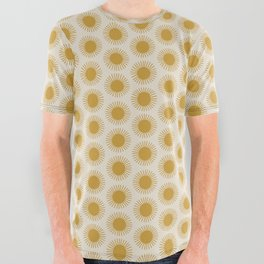 Golden Sun Pattern All Over Graphic Tee
