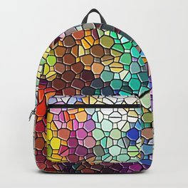 Decorative Rainbow Tiled Mosaic Abstract Backpack