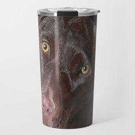 Inquisitive Chocolate Labrador Travel Mug