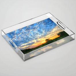 November East Texas Sunrise Acrylic Tray