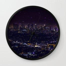 Stars Over Los Angeles II Wall Clock
