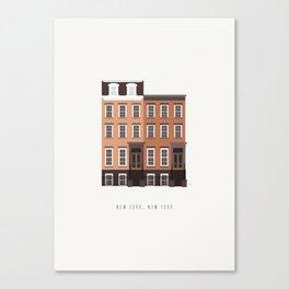 New York, NY Brownstone Canvas Print