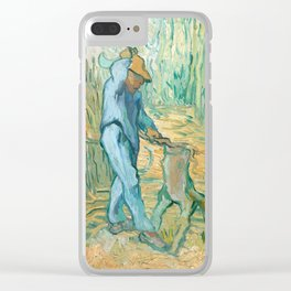 Van Gogh, The Woodcutter, 1889 Clear iPhone Case