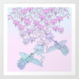 Hummingbirds Art Print