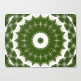 Green White Kaleidoscope Art 7 Canvas Print