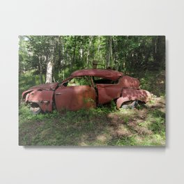 Saab 92 rusty Metal Print