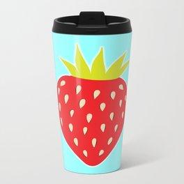 Strawberry No. 1 Metal Travel Mug