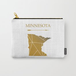 Minnesota In Gold Carry-All Pouch