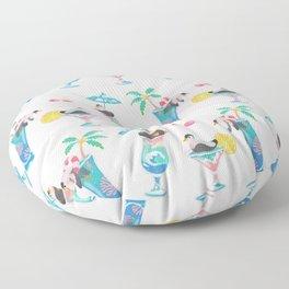 Summer cocktails Floor Pillow