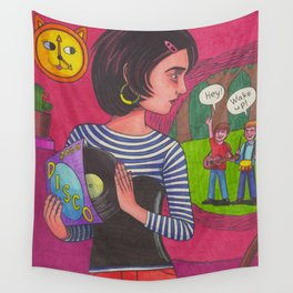 Disco Girl Wall Tapestry