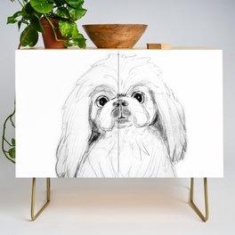 Cartoon Pekingese Dog Credenza