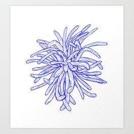 Blue Flower Art Print