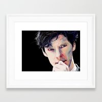 benedict Framed Art Prints featuring Benedict Cumberbatch by Hash