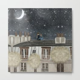 moonlit wishes with you Metal Print