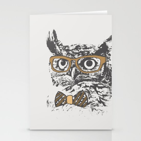 Hipsters are a Hoot Stationery Cards