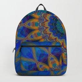 Electric Rainbow Mandala Design Backpack