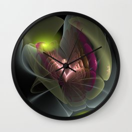 Flower Like Squared Wall Clock