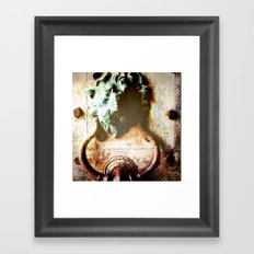 Knock First! Framed Art Print