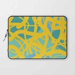 Yellow Green Acqua Abstract Organic Pattern Desig Laptop Sleeve