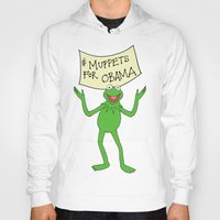 muppets Hoodies featuring Muppets for Obama by Illustrated by Jenny