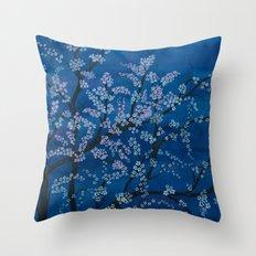 Spring Night Blues II Throw Pillow