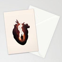 Flickering Heart Stationery Cards