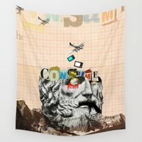 motivation Wall Tapestries featuring Mankind Motivation X2 by Marko Köppe