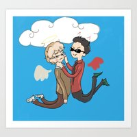 good omens Art Prints featuring Good Omens by Dangerpro