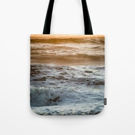 Coral Ocean Sunset Tote Bag
