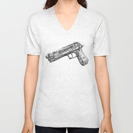 "Weapons Of Mass Construction - Gun Filled With ""Creativity-Tools"" Unisex V-Neck"