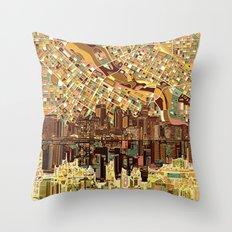 minneapolis city skyline Throw Pillow